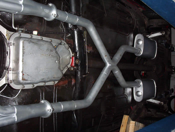 Headers, x-pipe and muffler